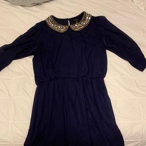 Navy blue semi-formal dress, LIKE NEW